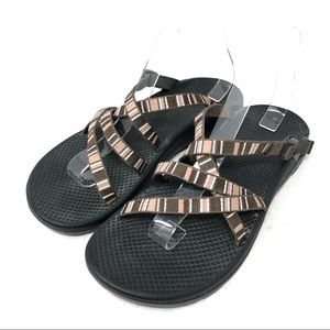 Chaco Wrapsody Tiramisu Brown Slide Sandals
